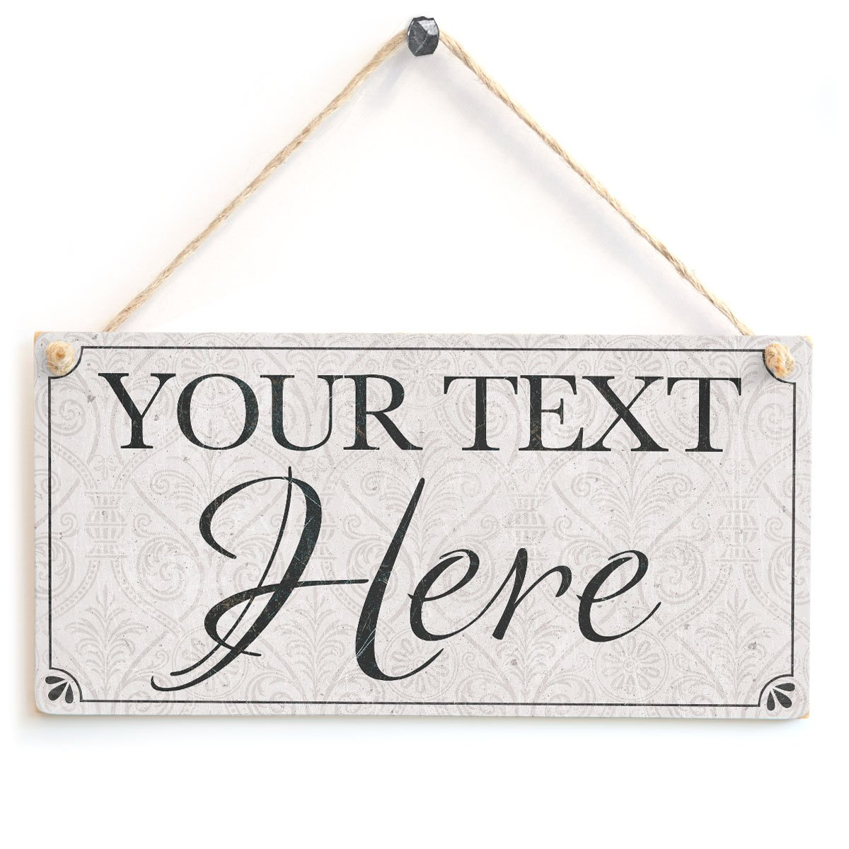 Anita's Country Crafts Your Text Here (Classy Traditional Design) - Custom Personalised Wooden Sign Gift Anita's Country Crafts