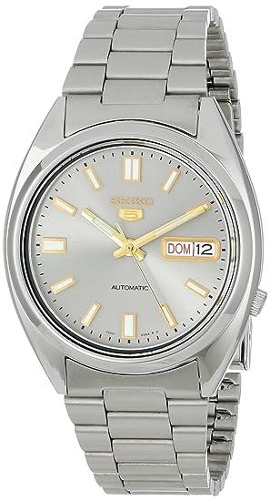 Seiko Reloj Analógico Automático para Hombre con Correa de Acero Inoxidable  - SNXS75K  Amazon.es  Relojes 0d011e0913d2