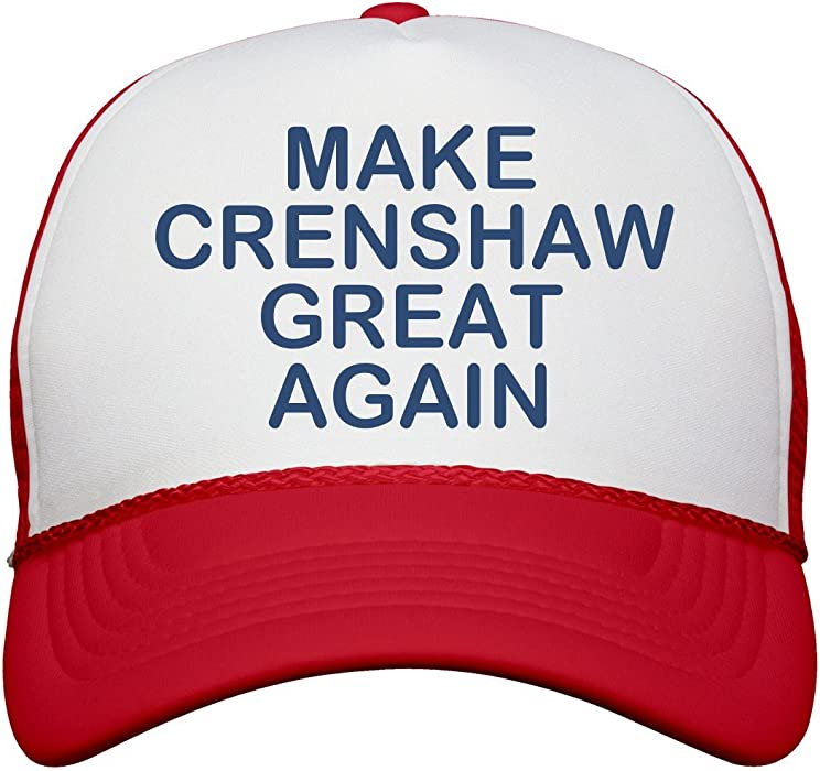 Amazon.com  FUNNYSHIRTS.ORG Make Crenshaw Great Again  Snapback ... 747b66be7f9