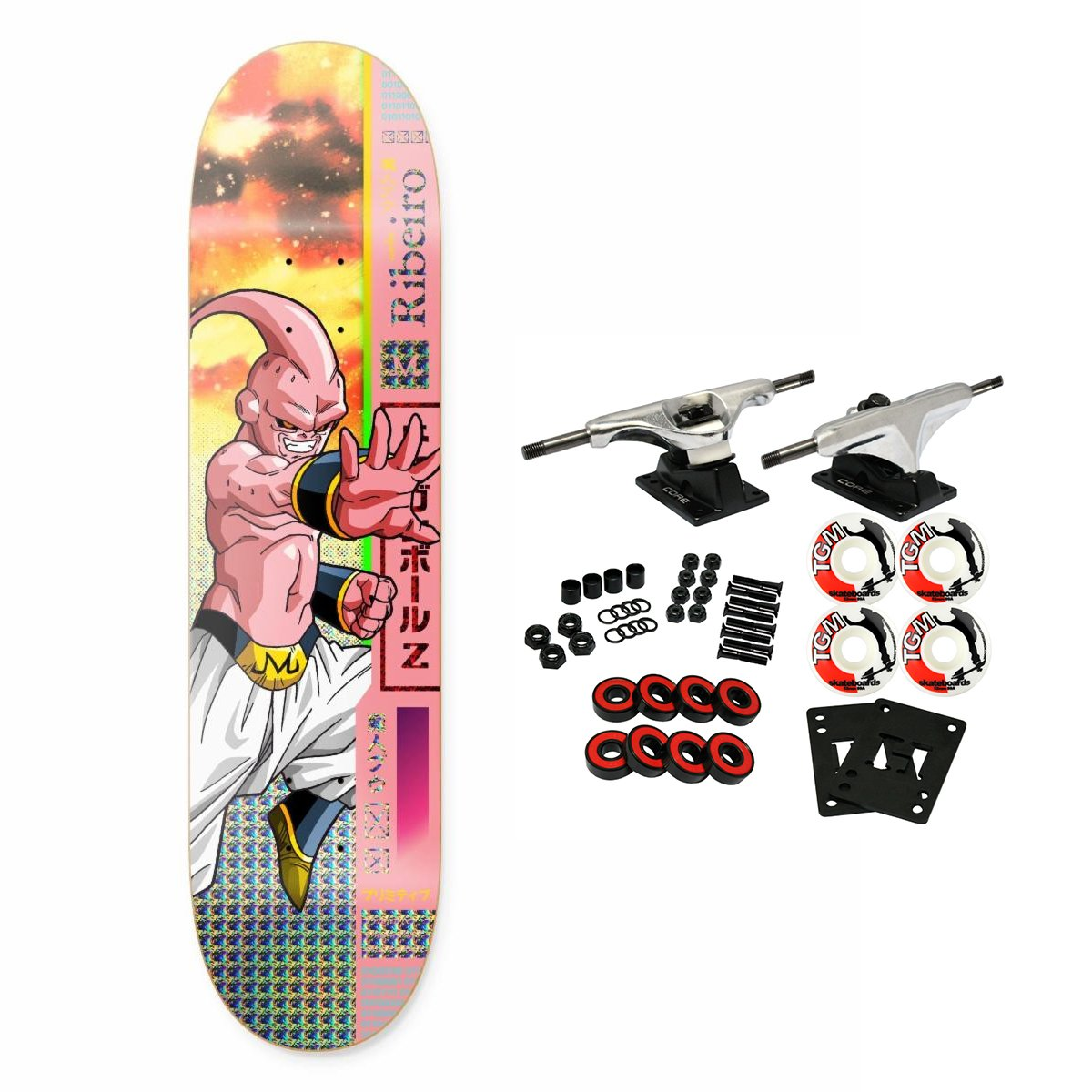 Primitive Dragon Ball Z Riberio Buu Skateboard Complete 8.0'' by Primitive