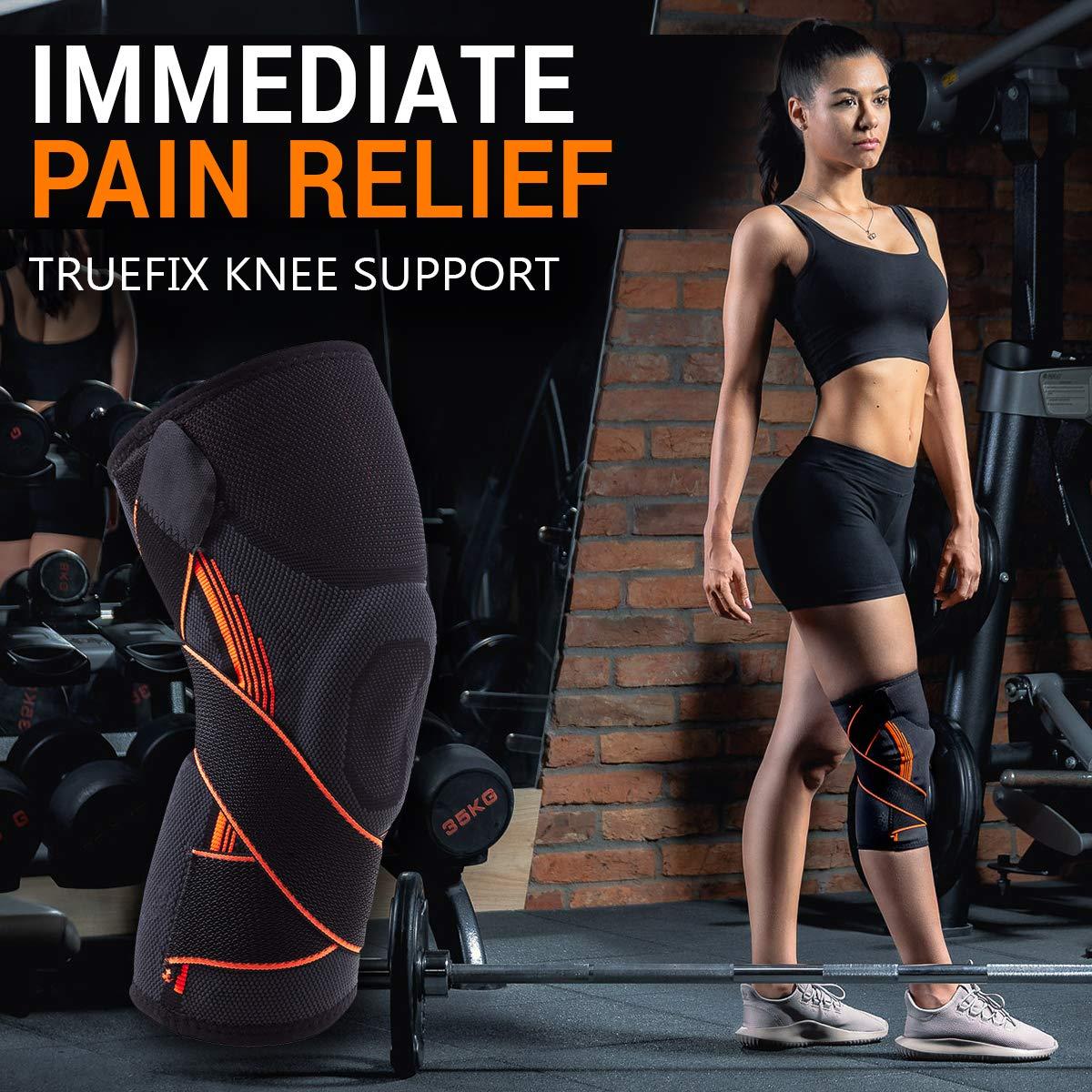 s TrueFix Knee Support Knee Brace Crossfit,Sports,Arthritis Support Brace,Knee Brace for Injury Recovery,Meniscus Tear,Running,Squats