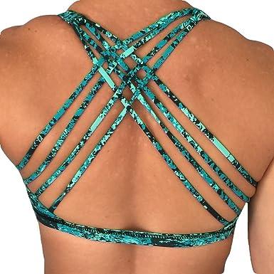 940c18fa43 Born Primitive Vitality Sports Bra (Teal Splash) at Amazon Women s ...