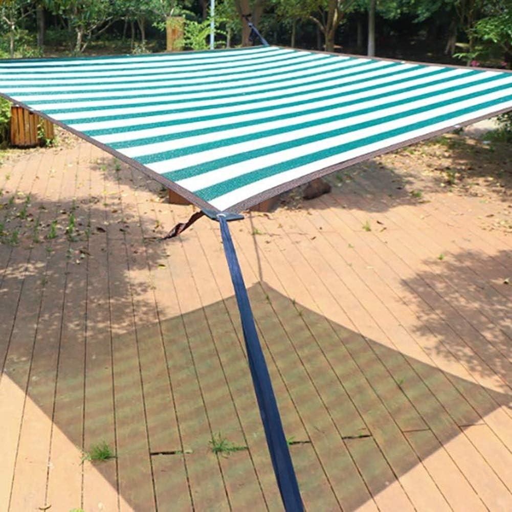 Tela de Sombra a Rayas Verdes y Blancas, Cubierta de pérgola de ...