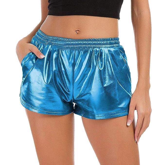 FRAUIT Pantalones Cortos de Yoga de Cintura Alta para Mujer ...