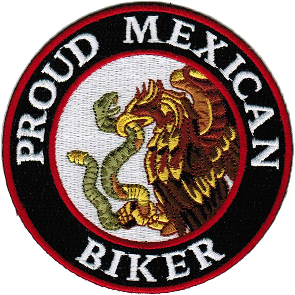 MEXICO MEXICAN COUNTRY STATE FLAG BIKER IRON ON PATCH