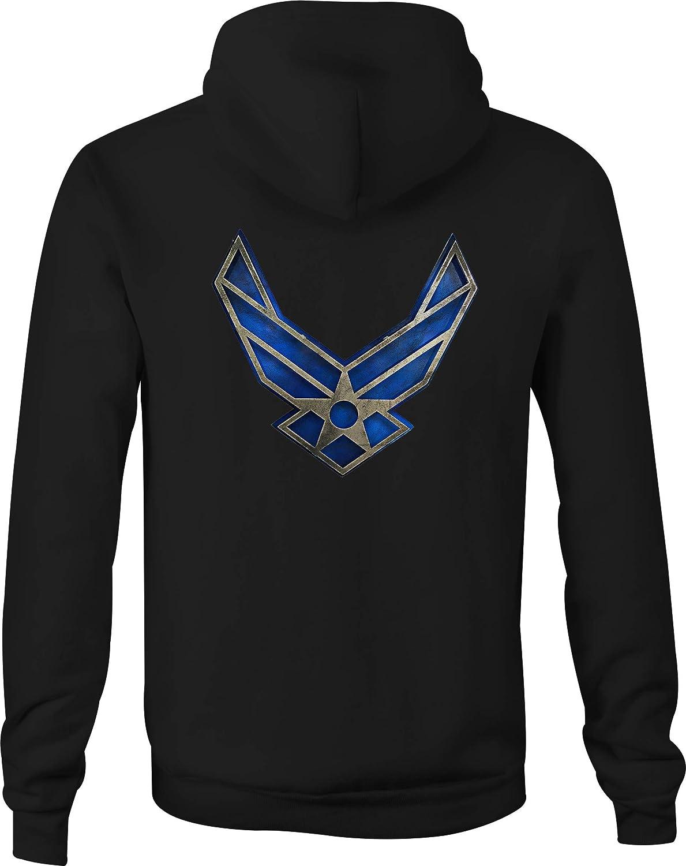 US Army Military Hoodie Air Force Wings Sweatshirt USAF SIZES S-3XL
