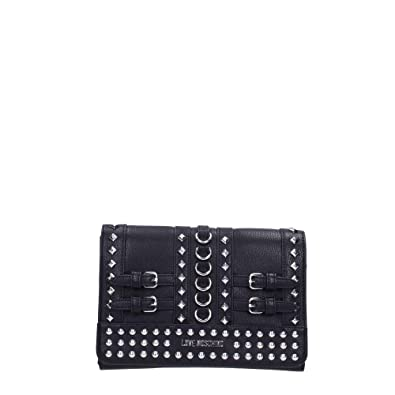 3363452373 Moschino Love Moschino Women's Studded Clutch Bag One Size Black ...