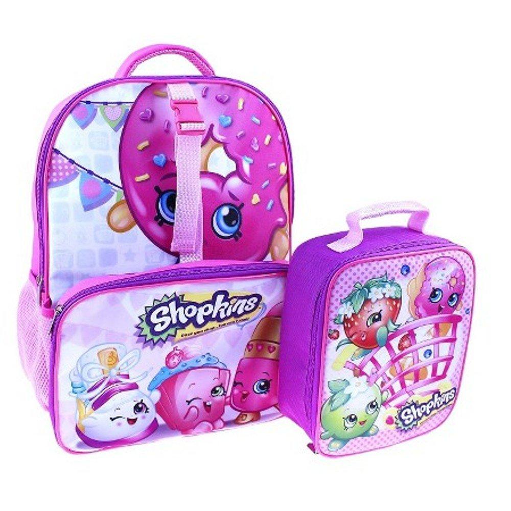 (ショプキンズ) Shopkinsランチバッグ付きバックパック 16インチ ピンク   B01HYD7IGE