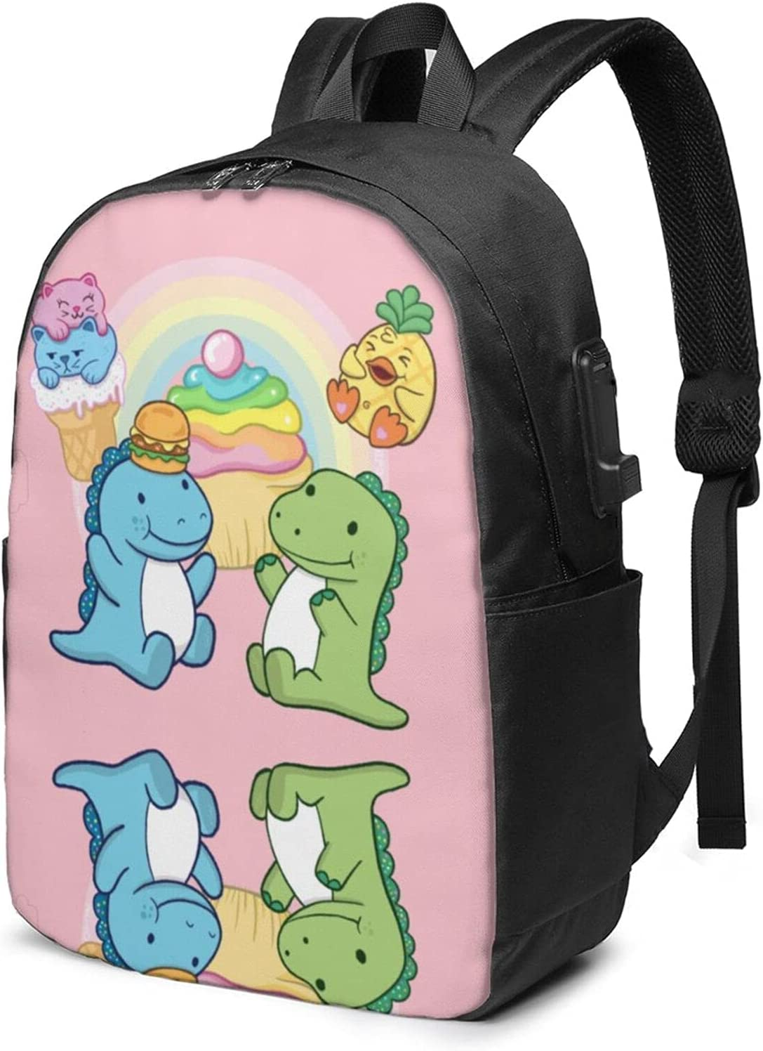Cousin Derp and Pickle 11 Laptop Backpack Knapsack Travel Bag with USB Charger Port 17 Inch