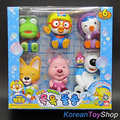 PORORO Character Bath Toy for Children - 6pcs: Toys & Games