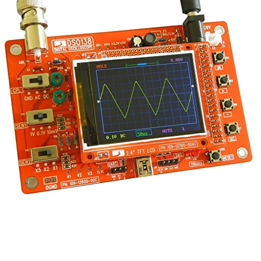 "Mit US Probe 1Msps New Fully Assembled DSO138 2.4/"" TFT Digital Oszilloskop"