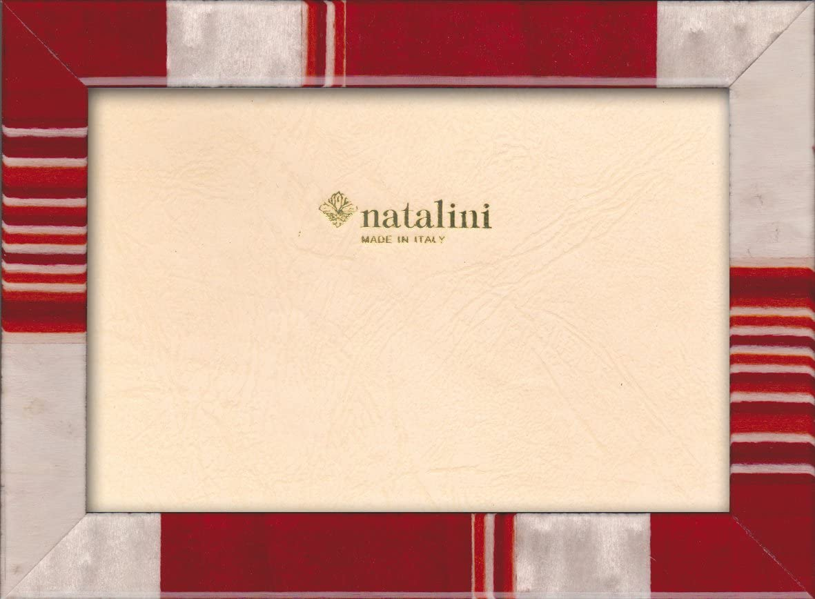 Natalini MARQUETRY PHOTO FRAME MADE IN ITALY Tulipwood 5X 7 Red