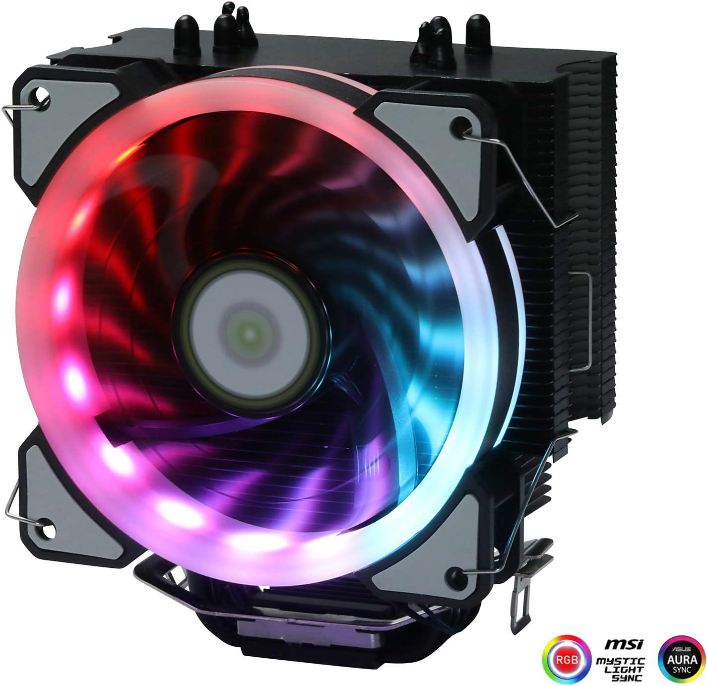 Cooler Fan CPU de aluminio LED para Intel LGA 115X /AM4 (rj)