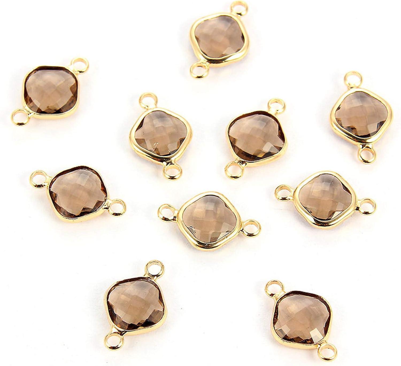 HGFJG 10 Unids/Lote De Abalorios De Piedra Natal De Cristal De Colores De Cristal, Accesorios DIY para Collar De Pulseras