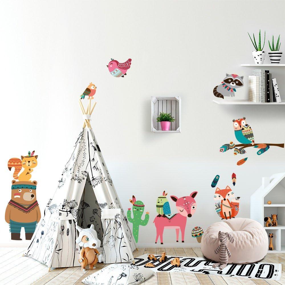 Les Petites tribus kina R00432 Stickers muraux pour Enfants imprim/é sur papiers Peints