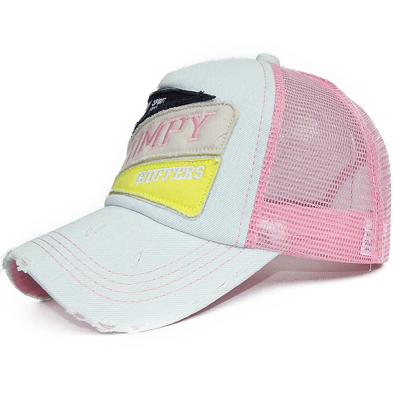 Women's Lady's Summer Baseball Hats Bright Color Mesh Jeans Denim Caps Snapback