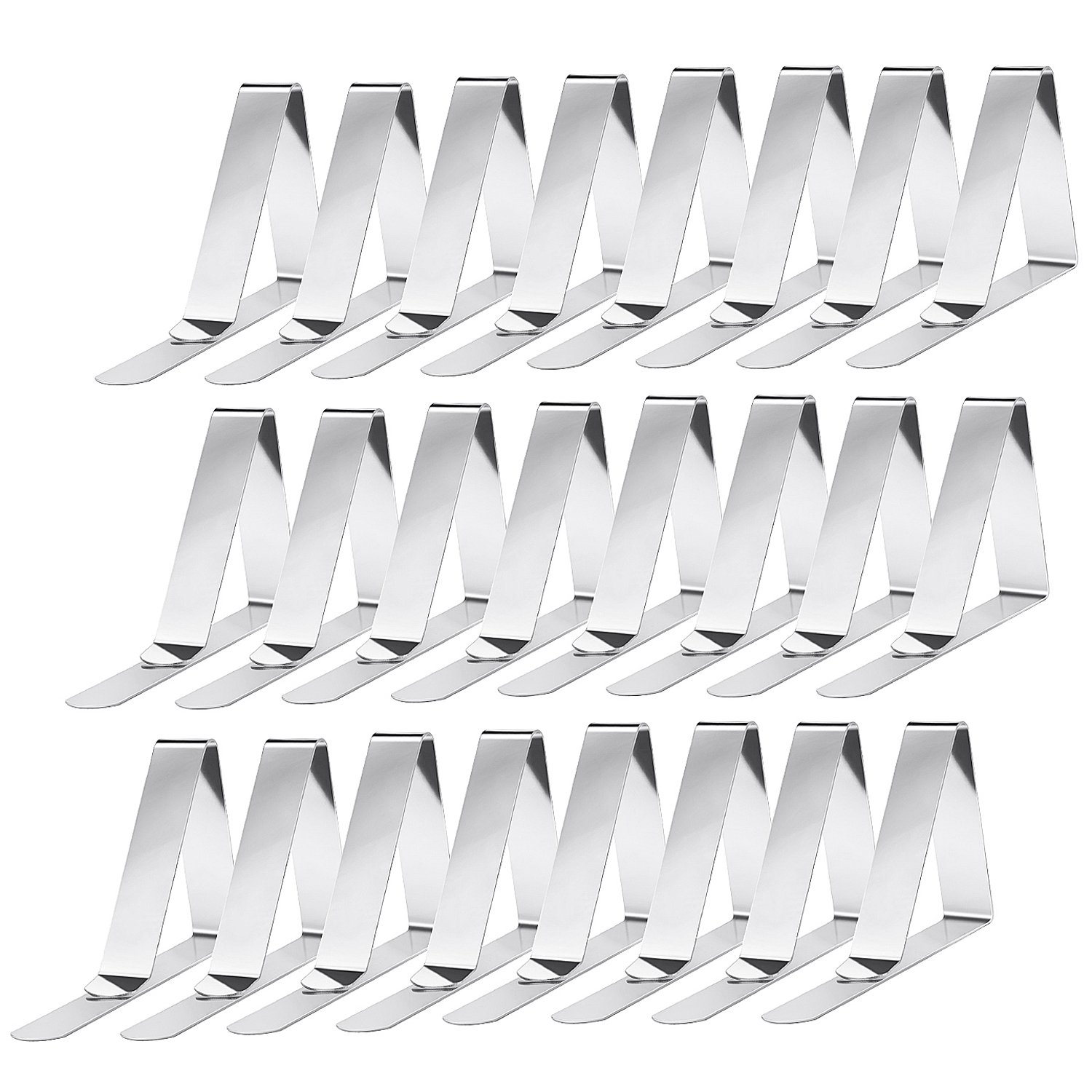 Pack of 24 Stainless Steel Tablecloth Holder ZWOOS Tablecloth Clips Clamps