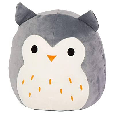 "Kellytoy Squishmallow 8"" Hoot The Gray Owl Super Soft Plush Toy Pillow Pet Pal Buddy: Toys & Games"