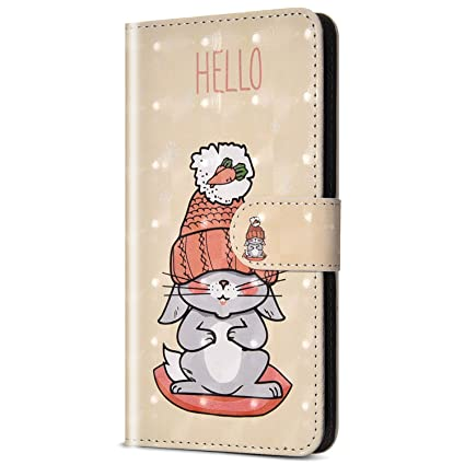 Xiaomi Mi A2 Lite Case,Xiaomi Redmi 6 Pro Case,ikasus Floral 3D PU Leather  Wallet Case with Kickstand Card Holder Rubber Flip Cover Magnetic Closure
