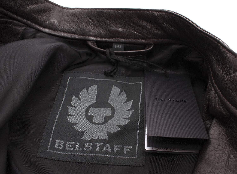 Belstaff Chaquetas Hombres 71020667 A Racer Dark Brown Piel ...