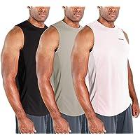 $26 » DEVOPS 3 Pack Men's Muscle Shirts Sleeveless Dri Fit Gym Workout Tank Top