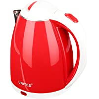 United Electric Kettle 1.5 Litre Red (Inside Steel Body &Wire Length 69 cm)