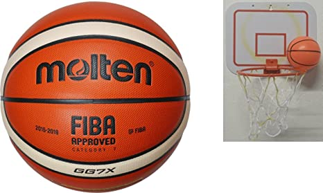 Molten BGG7X - Balón de baloncesto Mini cesta de elección 2nd+: ...