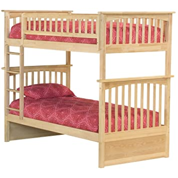 Amazon Com Columbia Bunk Bed Twin Over Twin Natural Kitchen Dining