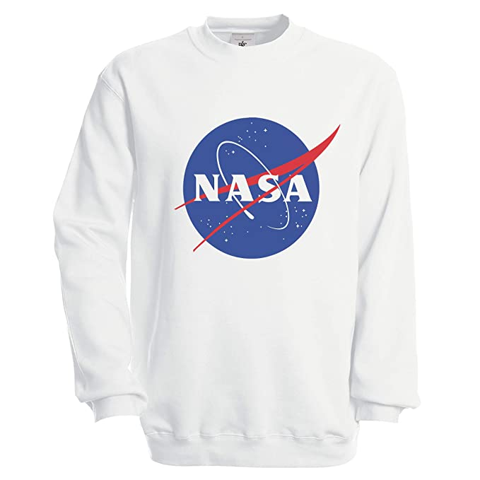 NASA Space Astronaut Geek Nerd Logo Sudadera Unisex: Amazon.es: Ropa y accesorios