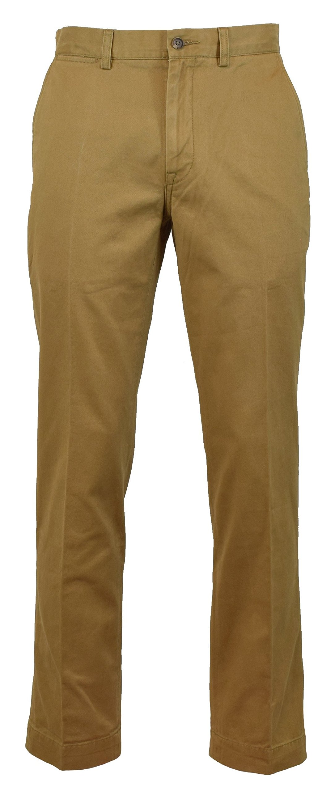 RALPH LAUREN Polo Mens Classic Fit Flat Front Chino Pants (Ghurka, 31x32)