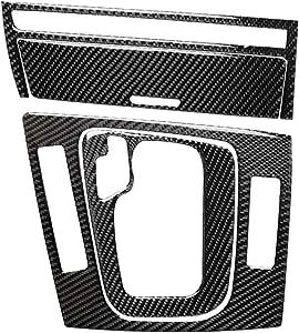 3pcs Set Carbon Fiber Instrument Dashboard Console Gear Box Panel Frame Decal Cover Trim for BMW 3 Series 4th E46 320i 325i 330i 335i 340i M3 1998-2006