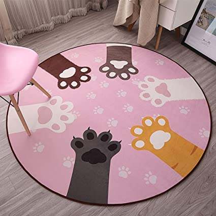 Amazon.com: Round rug bedroom floor mats living room personality ...