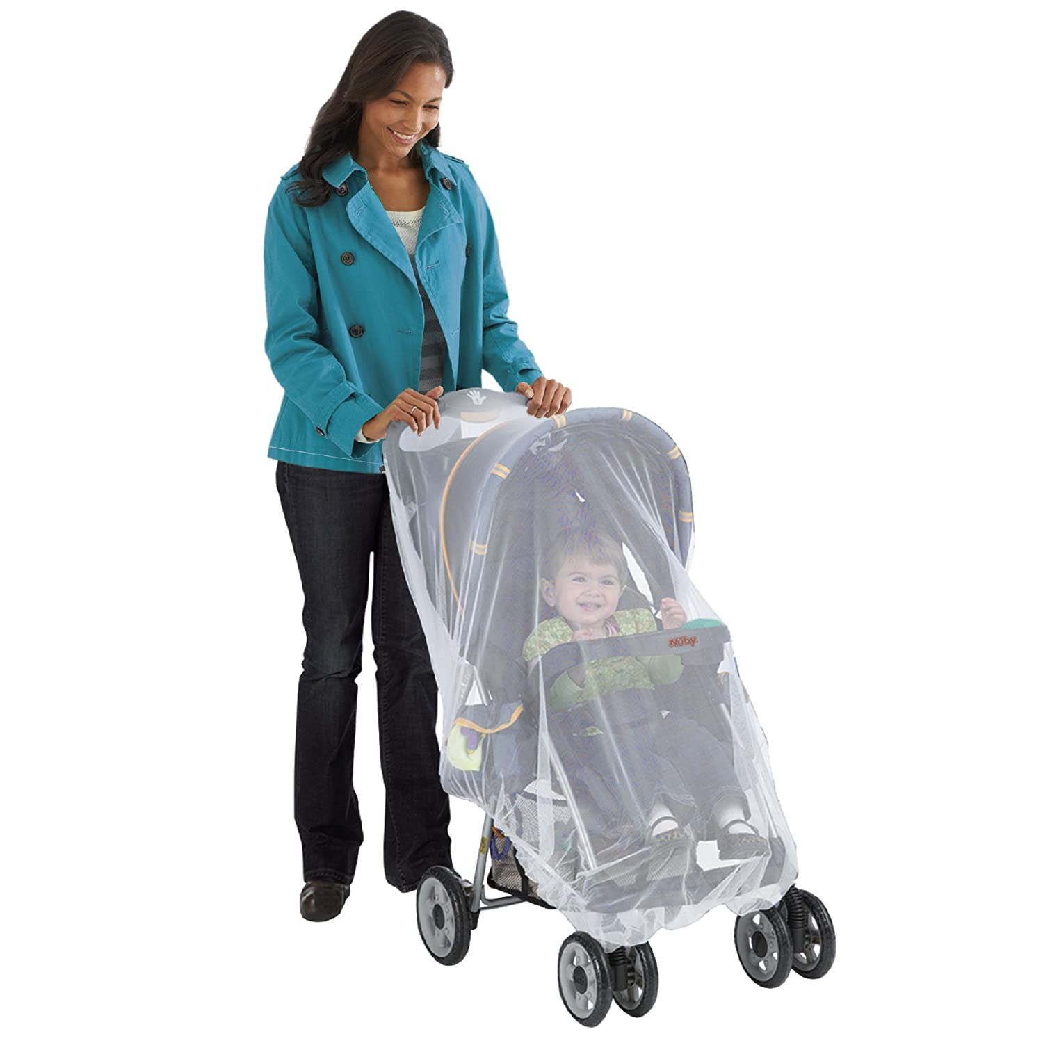 Nuby Baby Strollers Universal Size Mosquito Net, White 120032