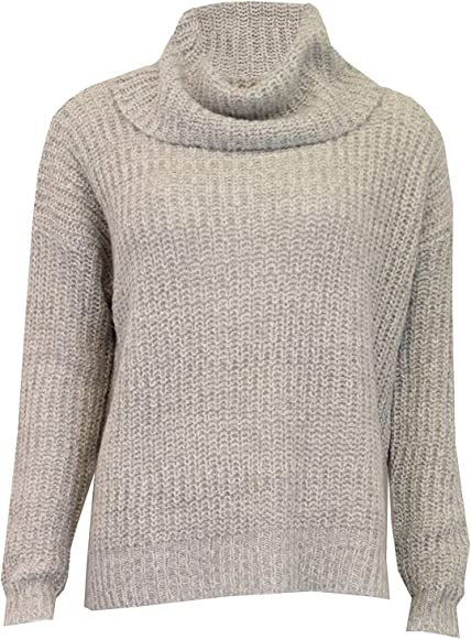 Ladies Jumper Brave Soul Womens Cable Knitted Cowl Neck Pullover Top Winter New