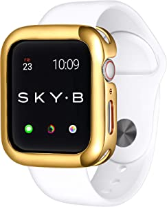 SKYB Minimalist Yellow Gold Protective Jewelry Case for Apple Watch Series 1, 2, 3, 4, 5 Devices - 44mm