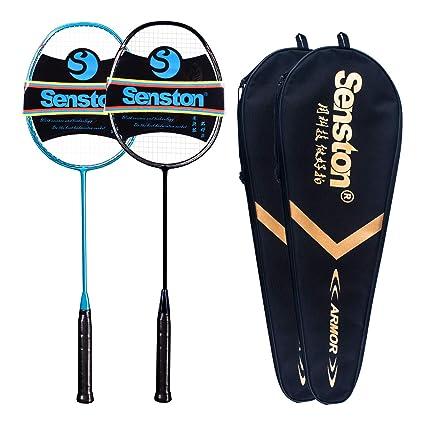 Graphite Single Senston N80 100/% Full Carbon Badminton Racket with Premium Bag