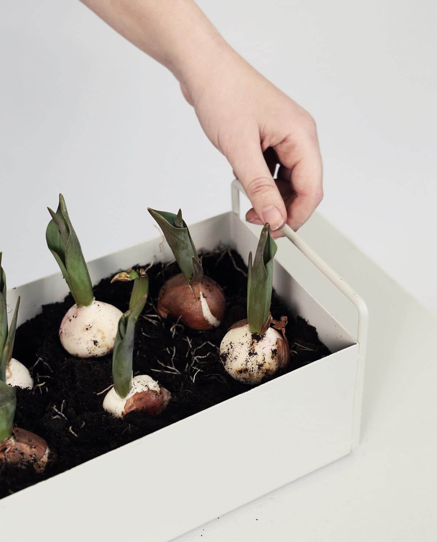 Ferm Living Plant Box Blumenkasten 45cm Metall hellgrau