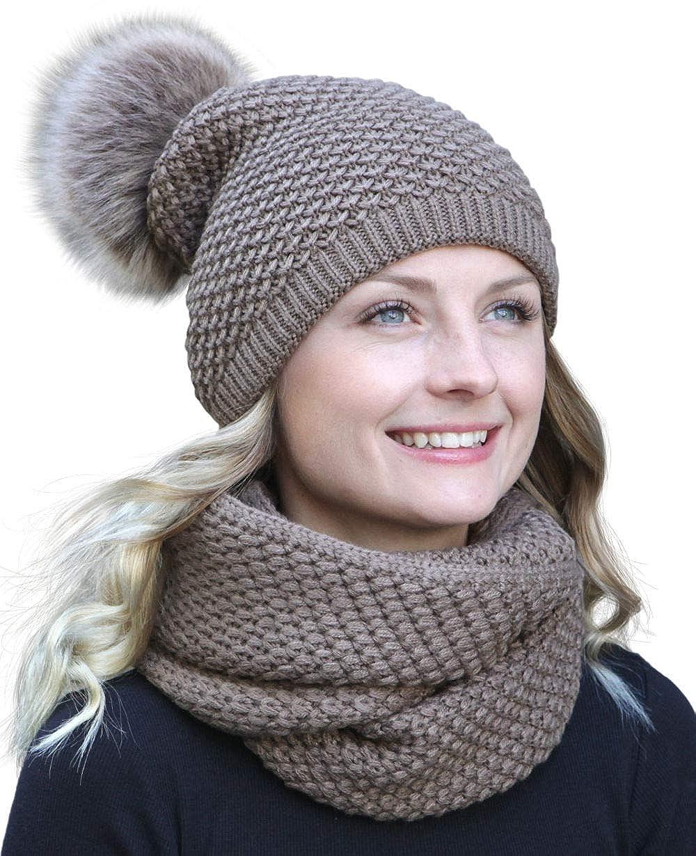 Hilltop -combo invernale con sciarpa e berretto in maglia coordinato (berretto con pompon)