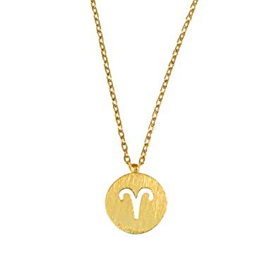 9416b5b7c9c36b Amazon.com: Womens Taurus Zodiac Necklace Dainty Taurus Necklace Zodiac  Sign Simple Astrology Necklace 17 in chain (Gold): Jewelry