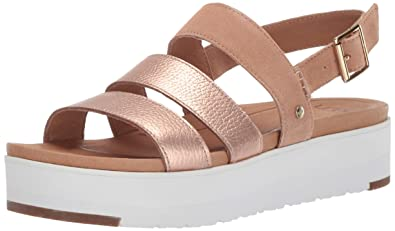 e04417bad87 UGG Women s Braelynn Metallic Flat Sandal Rose Gold 5 ...
