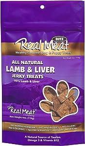 The Real Meat Company 828416 Dog Bitz 95-Percent Lamb/Liver Jerky Treat, 4-Ounce