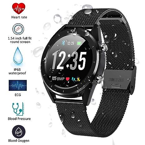 Smartwatch, Kivors Reloj Inteligente Bluetooth SmartWatch Pantalla táctil con Múltiples Modos de Deportes, Monitor
