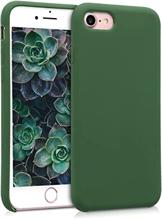 Kwmobile Hülle Kompatibel Mit Apple Iphone 7 8 Se 2020 Handyhülle Gummiert Handy Case In Dunkelgrün Elektronik