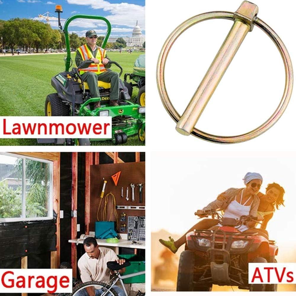 3 clips de enganche para tractores de granja camiones y cortac/éspedes Kit surtido de 12 pines Lynch Pin de bloqueo de remolque resistente