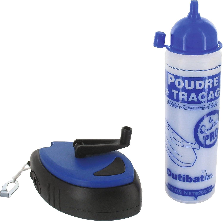200 g Lot traceur cordeau rapido et poudre bleu