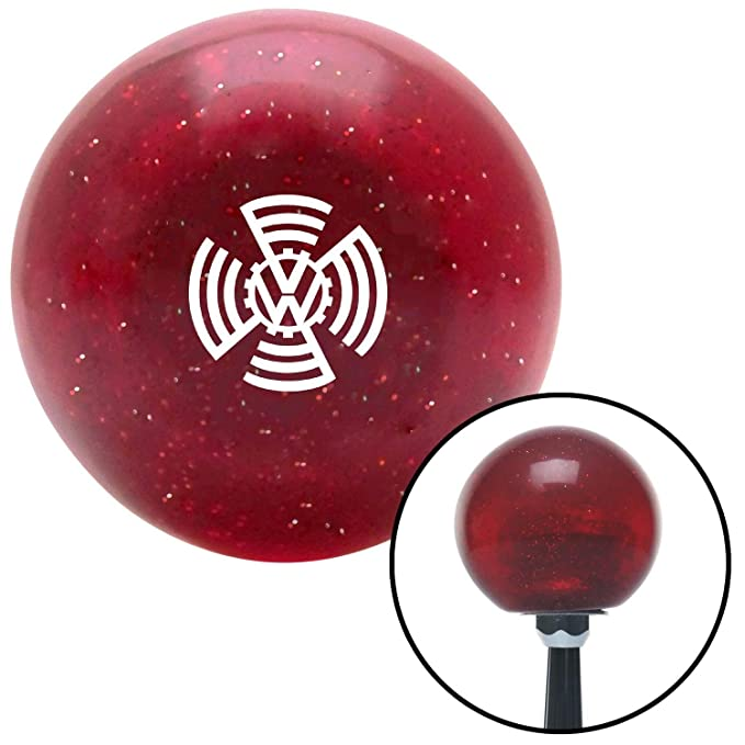 White VW Cog 1937 Red Metal Flake with M16 x 1.5 Insert American Shifter 283112 Shift Knob