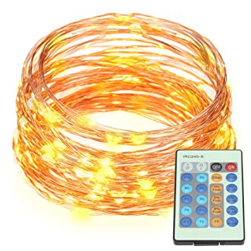 Marvelous 32 8Ft Copper Wire Led Starry Lights 100Led String Lights With Power Wiring Digital Resources Funapmognl
