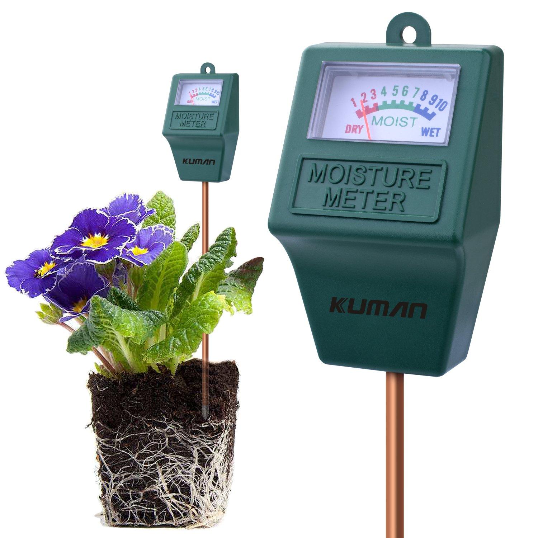 kuman S10 Soil Moisture Sensor Meter, Hygrometer Soil Water Monitor for Garden, Farm, Lawn Plants Indoor & Outdoor(No Battery Needed) KP02 (S10 Soil Moisture Sensor Meter)