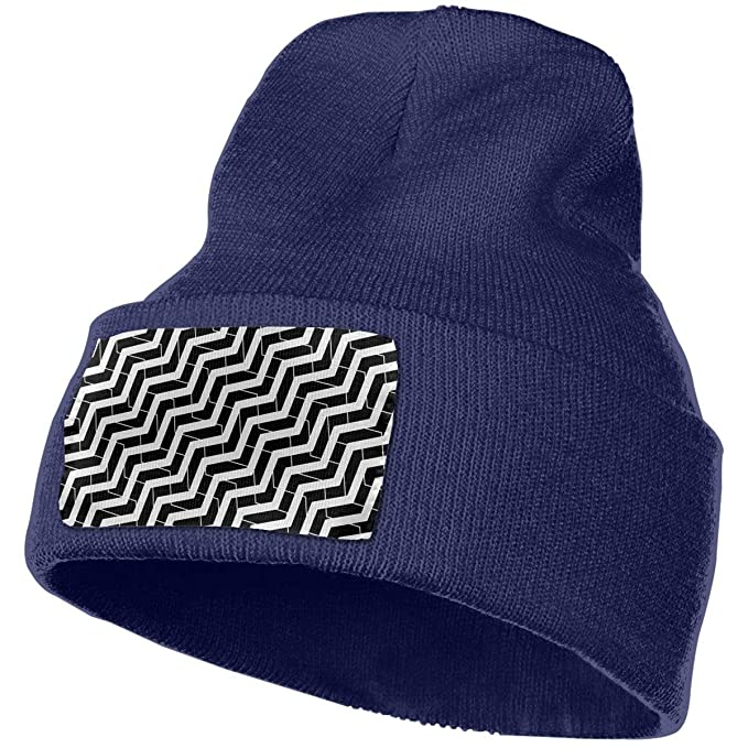 Crystal Goforth Stripe Unisex Warm Knitted Cap Wool Hats Beanies Caps