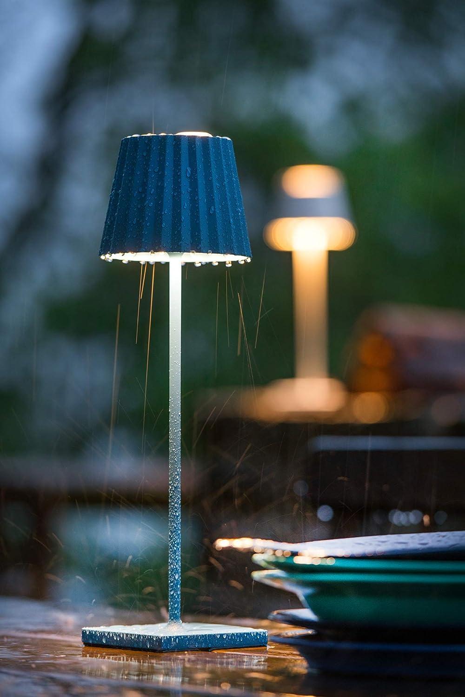Dimmbar Akkubetrieben Inkl Farbe:blau Spritzwasserschutz Ladestation Aluminium sompex Troll 2.0 LED Gartentischleuchte